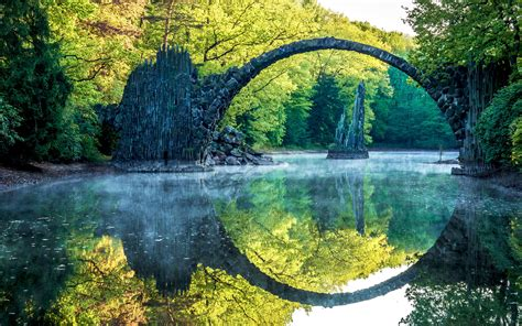 reflection river arch trees nature landscape water wallpapers hd desktop  mobile backgrounds