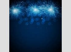 Blue fireworks vector background Free vector in