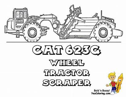 Coloring Pages Machines Mighty Construction Scraper Printable