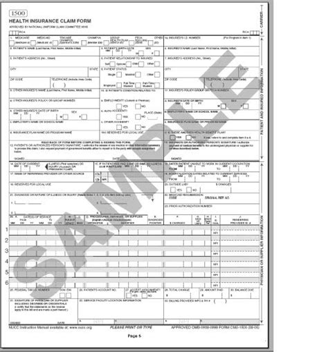 how to fill out a ub 04 claim form sle cms 1500 form cms 1500 claim form and ub 04