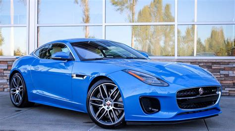 2018 Jaguar F Type Awesome Blue Car  Hd Wallpapers