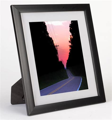 picture frames with mats 5 quot x 7 quot mat picture frame black plastic