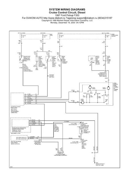 1997 Ford Ranger Wiring Diagram by 1997 Ford F350 Cruise Circuit System Wiring
