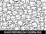 Coloring Pages Doodle Marshmallow Printable Marshmallows Kawaii Cute Adults Clipart Popsicle Etsy Doodles Print Piccandle Monsters Sheets Getcolorings Moj Adult sketch template