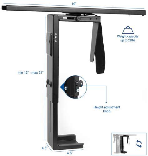 VIVO Adjustable Under-Desk Slider PC Mount Computer Case ...