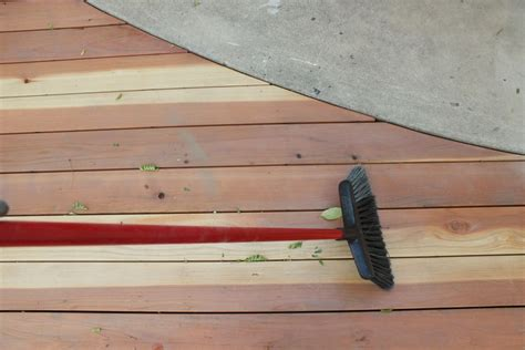 stain  seal  redwood deck