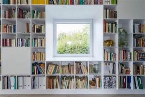 Bibliothèque Murale Contemporaine : grande biblioth que sur un mur entier ~ Teatrodelosmanantiales.com Idées de Décoration