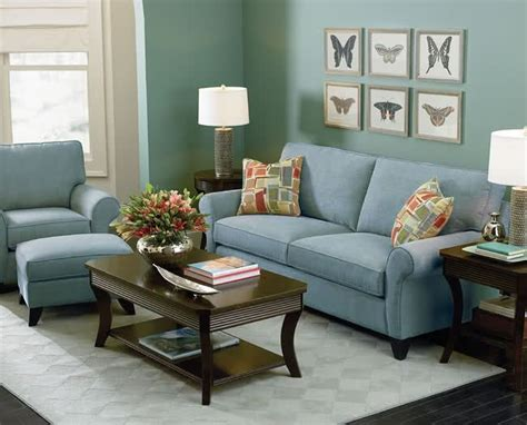 Light Blue Living Room With Furniture by The Blue Green Wall And Light Blue Create A Relaxing