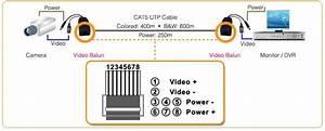 384 4 Power Video Balun On Cctv Balun Wiring Diagram