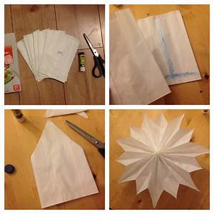 Basteln Mit Papiertüten : einfacher diy weihnachtsstern aus butterbrott ten ~ A.2002-acura-tl-radio.info Haus und Dekorationen