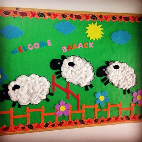bulletin boards welcome back kindergarten school sheep cambridge school of bucharest