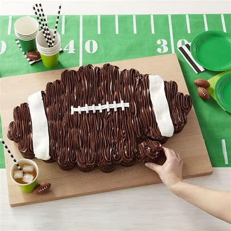cupcake football apart pull cake cupcakes cakes chocolate wilton decorations party using decorating cup cookies boys superbowl bowl wlproj pops