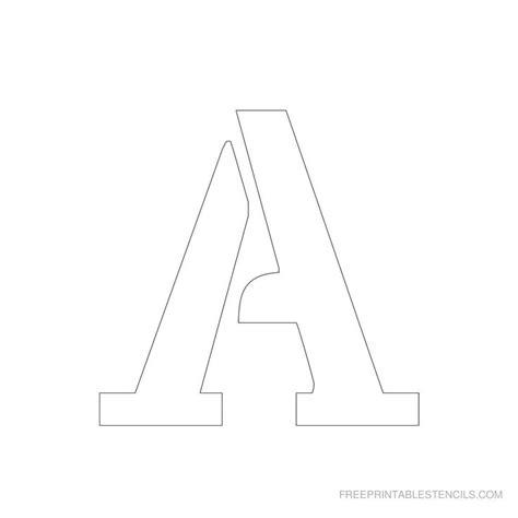 printable   letter stencil   full alphabet