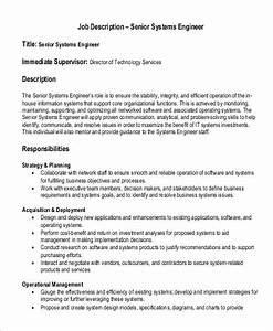 9+ Systems Engineer Job Description Samples | Sample Templates