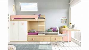 Lit Bureau Enfant : lit superpos avec bureau pour la chambre enfant ~ Farleysfitness.com Idées de Décoration