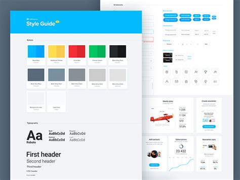 style guide template 40 great exles of ui style guides web graphic design bashooka