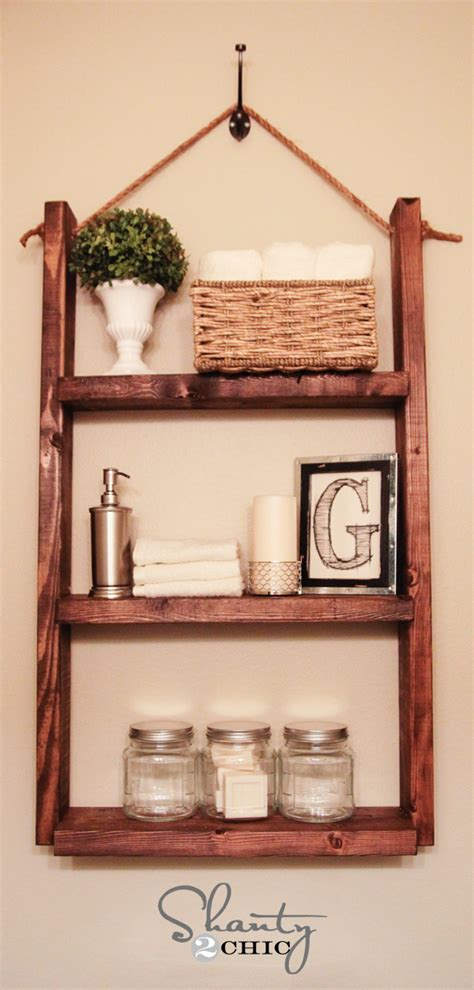 how to make a wall shelf how to make a hanging bathroom shelf for only 10