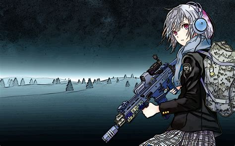 anime girls  guns wallpaper group   items
