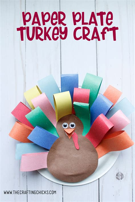 Paper Plate Turkey Craft  The Crafting Chicks