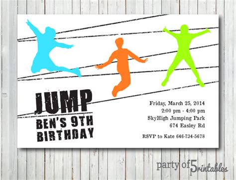 trampolin party einladung trampolin park springen springen