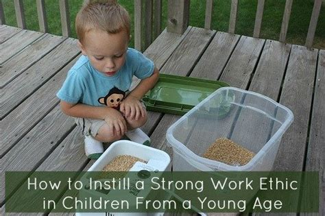 How To Instill A Strong Work Ethic In Children From A