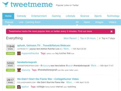 Tweet Meme - tracking twitter retweets using tweetmeme