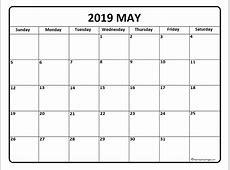 May 2019 Printable Calendar printable yearly calendar