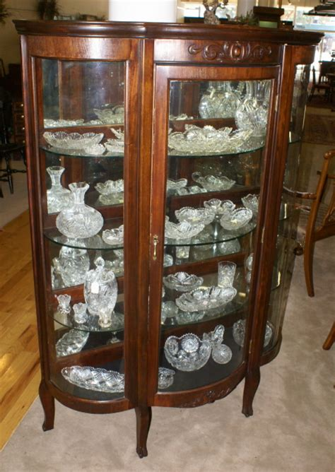antique china cabinets walnut bow front antique china cabinet