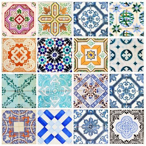 Portuguese Tiles Stickers Maceira   Pack of 16 tiles