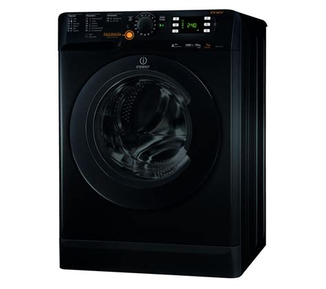 black washer and dryer buy indesit innex xwde751480xk washer dryer black free