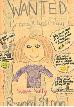 good citizen wanted poster citizenship social studies