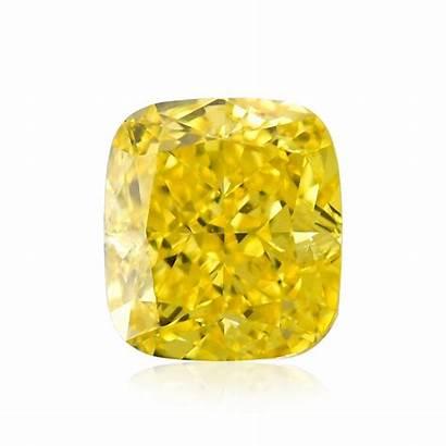 Yellow Fancy Vivid Diamond Cushion Diamonds Carat