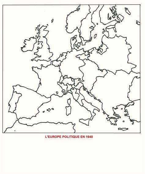 Carte Vierge De L Europe A Compléter by L Europe Politique En 1648 Fond De Carte 4e Histoire