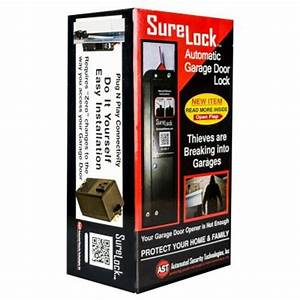 Surelock automated garage door lock slgdl7 the home depot for Automatic door lock for home