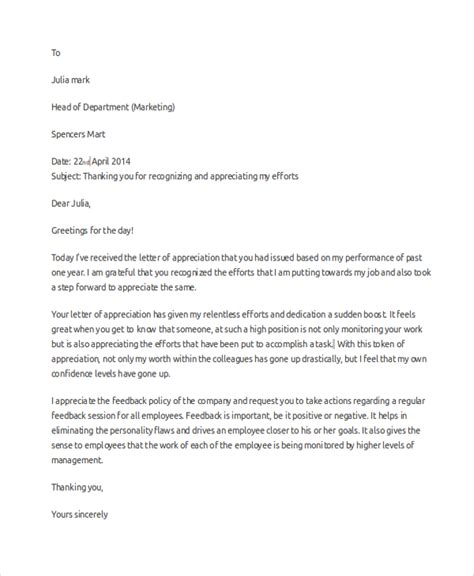 Employment Thank You Letter Sle by Appreciation Letter Ending 28 Images 5 Appreciation Letter Templates Formats Exles In How