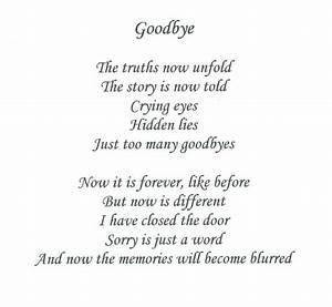 saying goodbye | Saying Goodbye Poems | Missing You ...
