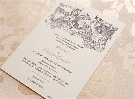 Rosalind & Christoacpher's bespoke wedding invitation