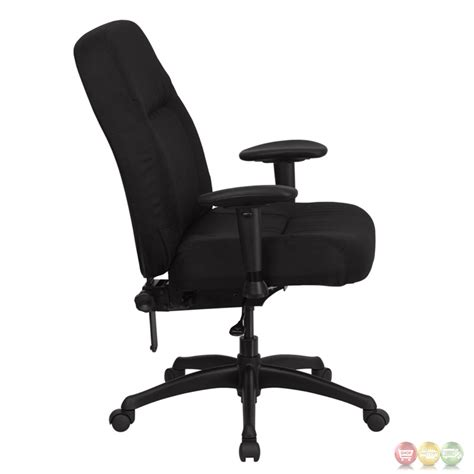 hercules high back big black fabric office chair w