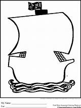 Coloring Pirate Outline Ship Clipart Pirates Treasure Chest Simple Outlines Cliparts Cartoon Argh Template Drawing Theme Ships Para Ginormasource Names sketch template