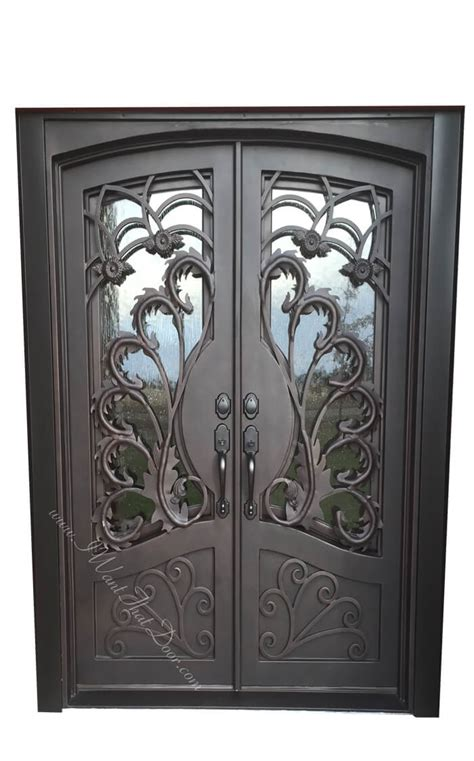 redondo square top  eyebrow double entry iron doors