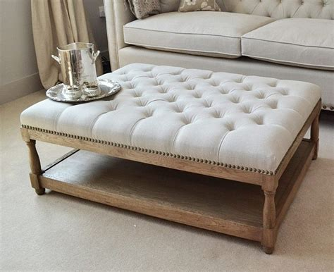 Ottoman As Coffee Table by Furniture Awesome Grey Square Fabric Ottoman Coffee Table