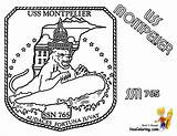 Coloring Submarine Pages Uss Montpelier Print Navy Yescoloring Sheet Boss Boys sketch template