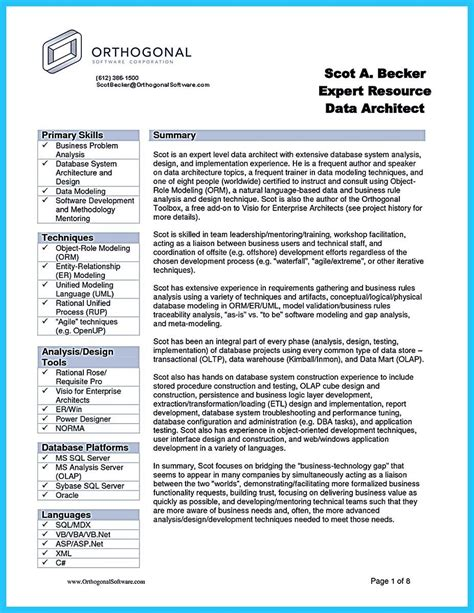 Business Analyst Resume Template by Create Your Astonishing Business Analyst Resume And