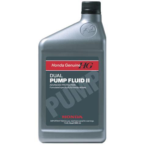 honda dual pump fluid ii  models