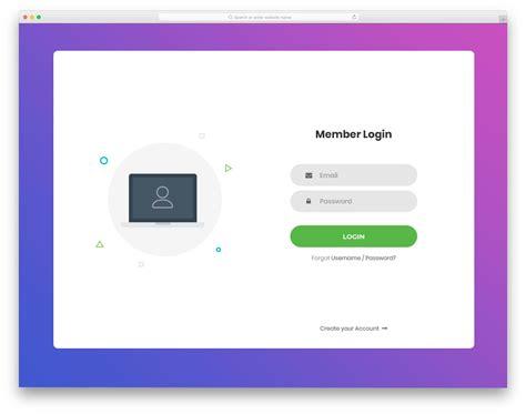 login forms  websites  mobile