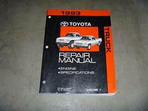 1993 Toyota Pickup Truck Engine Shop Service Repair Manual