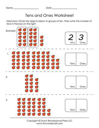 printable tens   worksheets  grade