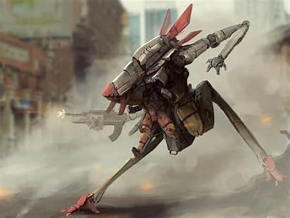 Sci Fi Mech Robot Soldier Mecha Wallpaperup