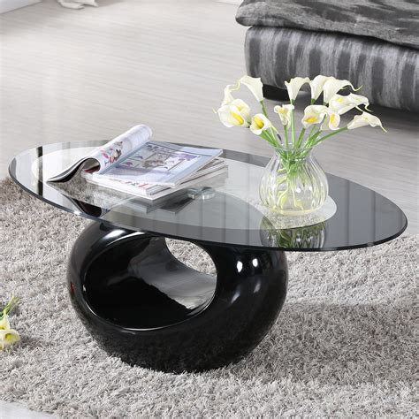 Browse our wide selection of oval glass topped coffee tables and bring effortless style to your home with beautiful modern furniture and decor. Glass Oval Coffee Table Contemporary Modern Design Living