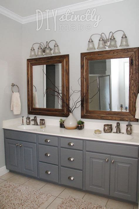 Bathroom Paint Colors With Cabinets by Painted Bathroom Cabinets Gray And Brown Color Scheme